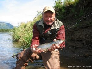 Alaskan trout fishing